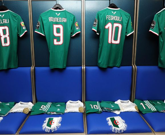 Algeria dressing room before the 2019 Africa Cup of Nations Finals match between Senegal and Algeria at 30 June Stadium, Cairo, Egypt on 27 June 2019 © Ryan Wilkisky/BackpagePix