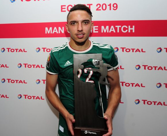 Ismael Bennacer of Algeria receives the Total Man of the Match award after the 2019 Africa Cup of Nations Finals match between Senegal and Algeria at 30 June Stadium, Cairo, Egypt on 27 June 2019 © Ryan Wilkisky/BackpagePix