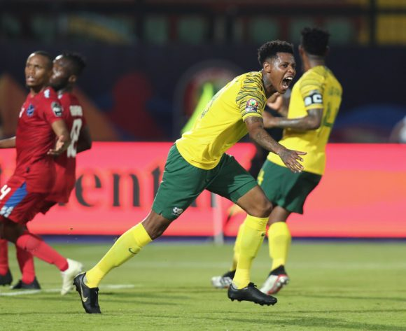 Bongani Zungu of South Africa celebrates goal during the 2019 Africa Cup of Nations Finals football match between South Africa and Namibia at the Al Salam Stadium, Cairo, Egypt on 28 June 2019 ©Gavin Barker/BackpagePix