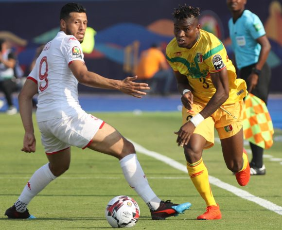Youssou Kone of Mali challenged by Anice Badri of Tunisia during the 2019 Africa Cup of Nations Finals match between Tunisia and Mali at Suez Stadium, Suez, Egypt on 28 June 2019 ©Samuel Shivambu/BackpagePix