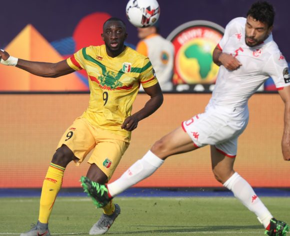 Moussa Marega of Mali challenged by Oussama Hadadi of Tunisia during the 2019 Africa Cup of Nations Finals match between Tunisia and Mali at Suez Stadium, Suez, Egypt on 28 June 2019 ©Samuel Shivambu/BackpagePix