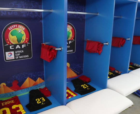 Angola changreroom general view during the 2019 Africa Cup of Nations Finals football match between Mauritania and Angola  at the Suez Stadium, Suez, Egypt on 29 June 2019 ©Gavin Barker/BackpagePix