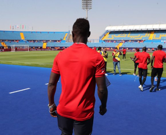 Mauritania players check pitch during the 2019 Africa Cup of Nations Finals football match between Mauritania and Angola  at the Suez Stadium, Suez, Egypt on 29 June 2019 ©Gavin Barker/BackpagePix