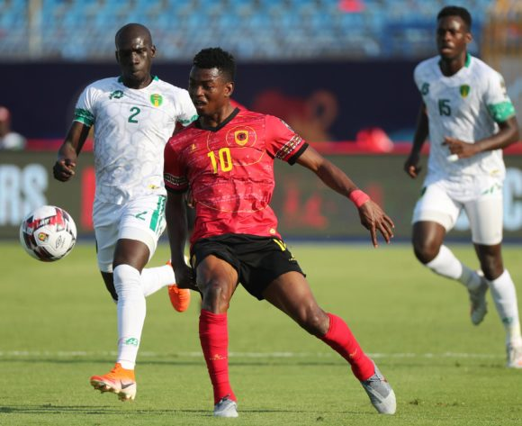 Jacinto Gelson Dala of Angola during the 2019 Africa Cup of Nations Finals football match between Mauritania and Angola  at the Suez Stadium, Suez, Egypt on 29 June 2019 ©Gavin Barker/BackpagePix
