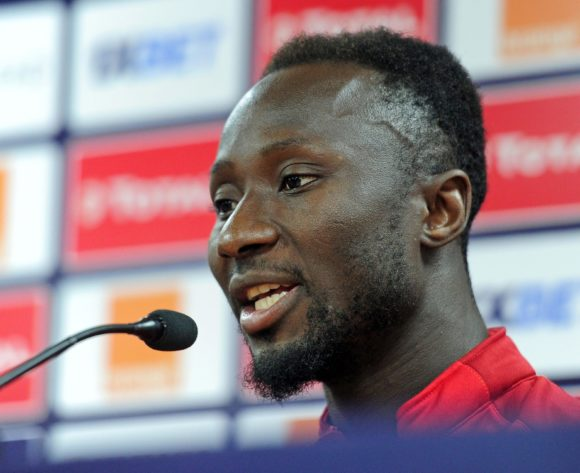 Naby Keita of Guinea chats to media during the 2019 Africa Cup of Nations Finals press conference for Guinea at Al Salam Stadium in Cairo, Egypt on 29 June 2019 © Ryan Wilkisky/BackpagePix
