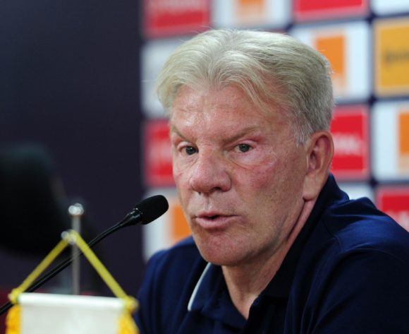 Paul Put, head coach of Guinea chats to media during the 2019 Africa Cup of Nations Finals press conference for Guinea at Al Salam Stadium in Cairo, Egypt on 29 June 2019 © Ryan Wilkisky/BackpagePix