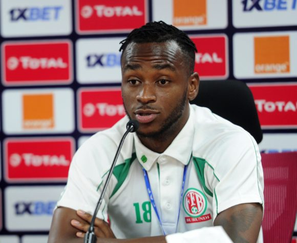 Saido Berahino of Burundi chats to media during the 2019 Africa Cup of Nations Finals press conference for Burundi at Al Salam Stadium in Cairo, Egypt on 29 June 2019 © Ryan Wilkisky/BackpagePix