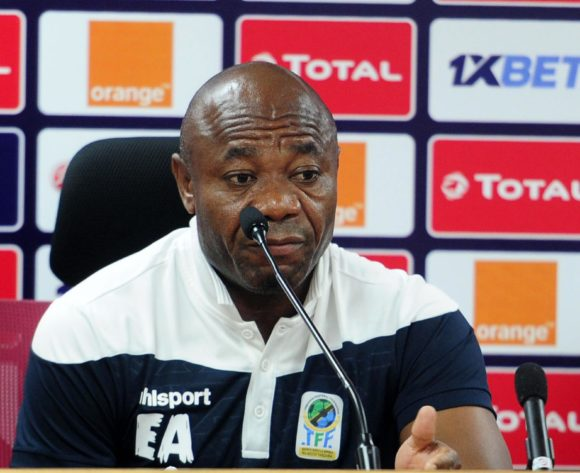 Emmanuel Amuneke, head coach of Tanzania  chats to media during the 2019 Africa Cup of Nations Finals press conference for Tanzania at 30 June Stadium in Cairo, Egypt on 29 June 2019 © Ryan Wilkisky/BackpagePix