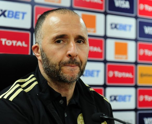 Djamel Belmadi, head coach of Algeria chats to media during the 2019 Africa Cup of Nations Finals press conference for Algeria at Al Salam Stadium in Cairo, Egypt on 29 June 2019 © Ryan Wilkisky/BackpagePix