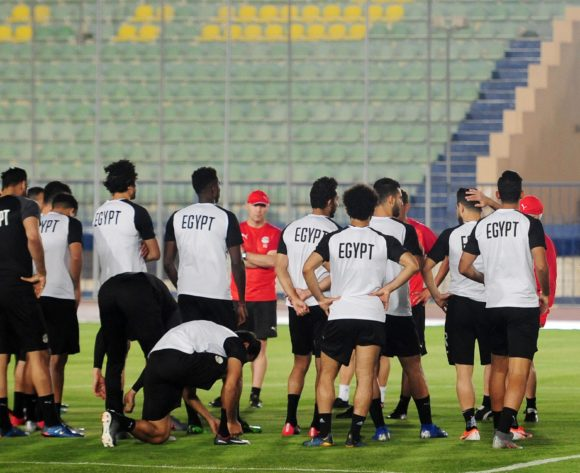 Egypt players before the 2019 Africa Cup of Nations Finals training session for Egypt at the Military Academy Stadium in Cairo, Egypt on 29 June 2019 © Ryan Wilkisky/BackpagePix