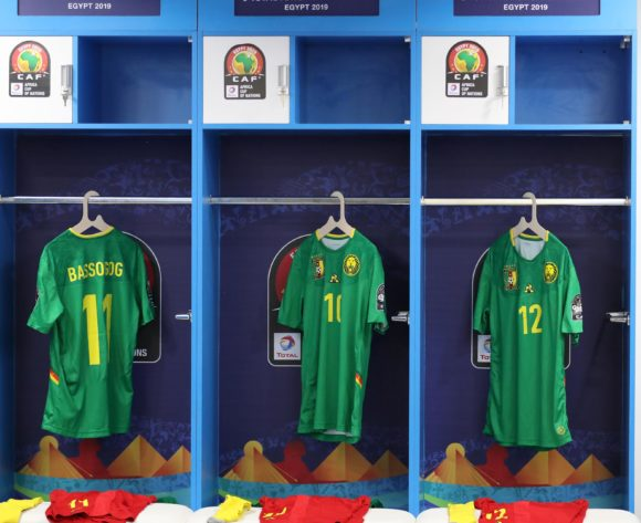 Cameroon changeroom general view during the 2019 Africa Cup of Nations Finals Cameroon and Ghana at Ismailia Stadium, Ismailia, Egypt on 29 June 2019 ©Samuel Shivambu/BackpagePix