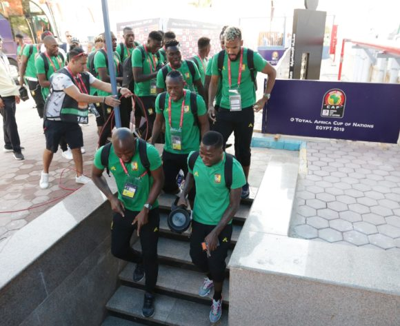 Cameroon team arrivals during the 2019 Africa Cup of Nations Finals Cameroon and Ghana at Ismailia Stadium, Ismailia, Egypt on 29 June 2019 ©Samuel Shivambu/BackpagePix