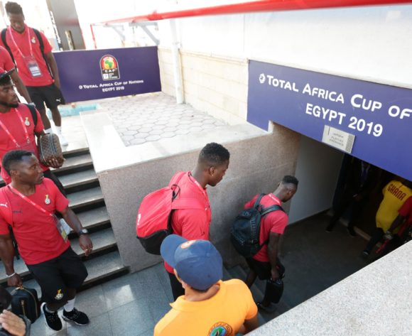 Ghana team arrivals during the 2019 Africa Cup of Nations Finals Cameroon and Ghana at Ismailia Stadium, Ismailia, Egypt on 29 June 2019 ©Samuel Shivambu/BackpagePix