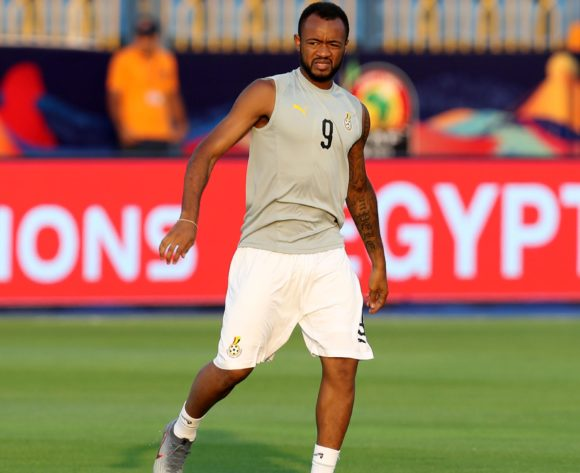 Jordan Ayew of Ghana warm up during the 2019 Africa Cup of Nations Finals Cameroon and Ghana at Ismailia Stadium, Ismailia, Egypt on 29 June 2019 ©Samuel Shivambu/BackpagePix