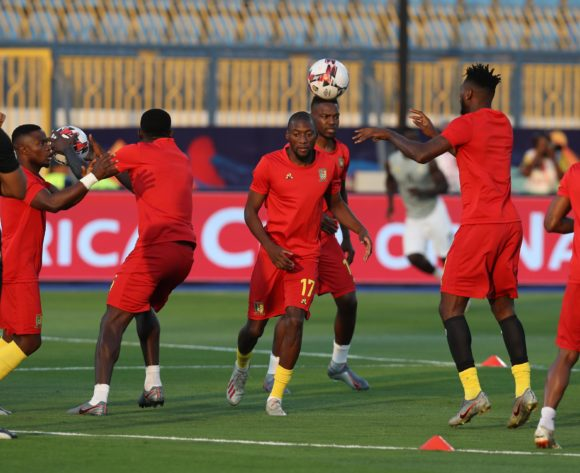 Cameroon players warm up during the 2019 Africa Cup of Nations Finals Cameroon and Ghana at Ismailia Stadium, Ismailia, Egypt on 29 June 2019 ©Samuel Shivambu/BackpagePix