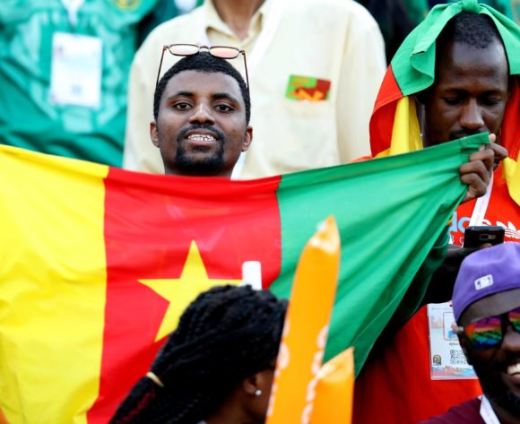 Cameroon fans during the 2019 Africa Cup of Nations Finals Cameroon and Ghana at Ismailia Stadium, Ismailia, Egypt on 29 June 2019 ©Samuel Shivambu/BackpagePix