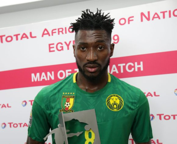 Andre Frank Zambo Anguissa of Cameroon wins Total Man of the Match Award during the 2019 Africa Cup of Nations Finals Cameroon and Ghana at Ismailia Stadium, Ismailia, Egypt on 29 June 2019 ©Samuel Shivambu/BackpagePix