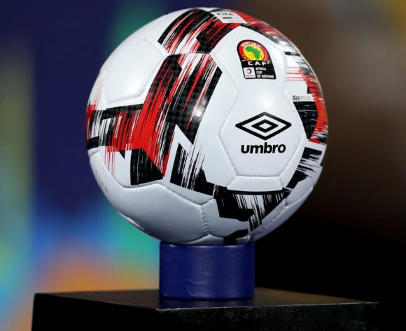 CAF Soccer Ball during the 2019 Africa Cup of Nations Finals Benin and Guinea-Bissau at Ismailia Stadium, Ismailia, Egypt on 29 June 2019 ©Samuel Shivambu/BackpagePix
