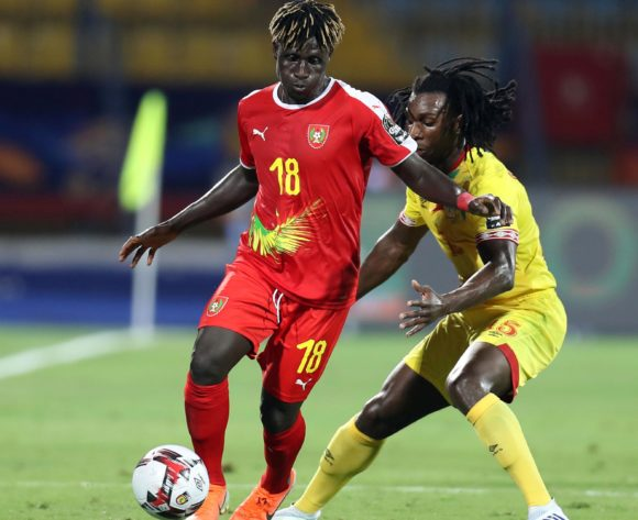 Piqueti Silva of Guinea-Bissau challenged by Sessi Dalmeida of Benin during the 2019 Africa Cup of Nations Finals Benin and Guinea-Bissau at Ismailia Stadium, Ismailia, Egypt on 29 June 2019 ©Samuel Shivambu/BackpagePix