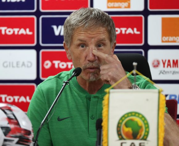 Coach Stuart Baxter addresses media during the 2019 Africa Cup of Nations Finals South Africa Press Conference at the Al Salam Stadium, Cairo, Egypt on 30 June 2019 ©Gavin Barker/BackpagePix