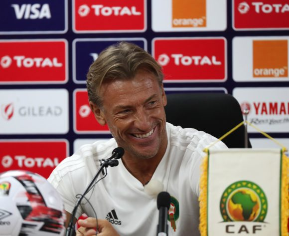 Coach Herve Renard addresses media during the 2019 Africa Cup of Nations Finals Morocco Press Conference at the Al Salam Stadium, Cairo, Egypt on 30 June 2019 ©Gavin Barker/BackpagePix