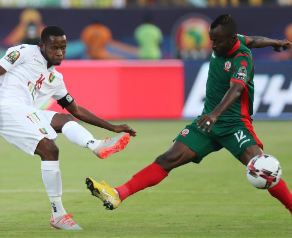 Ibrahima Traoré of Guinea challenged by Hussein Shaban of Burundi during the 2019 Africa Cup of Nations Finals football match between Burundi and Guinea at the Al Salam Stadium, Cairo, Egypt on 28 June 2019 ©Gavin Barker/BackpagePix