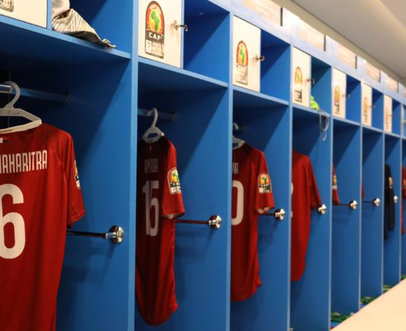 Madagascar dressing room during the 2019 Africa Cup of Nations match between Madagascar and Nigeria at the Alexandria Stadium, Alexandria on the 30 June 2019 ©Muzi Ntombela/BackpagePix