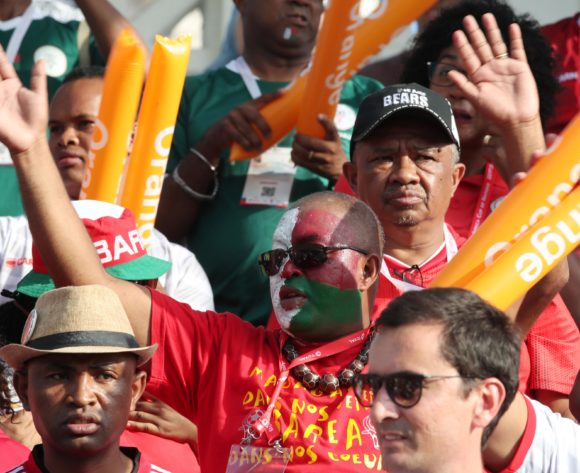 Madagascar fans during the 2019 Africa Cup of Nations match between Madagascar and Nigeria at the Alexandria Stadium, Alexandria on the 30 June 2019 ©Muzi Ntombela/BackpagePix