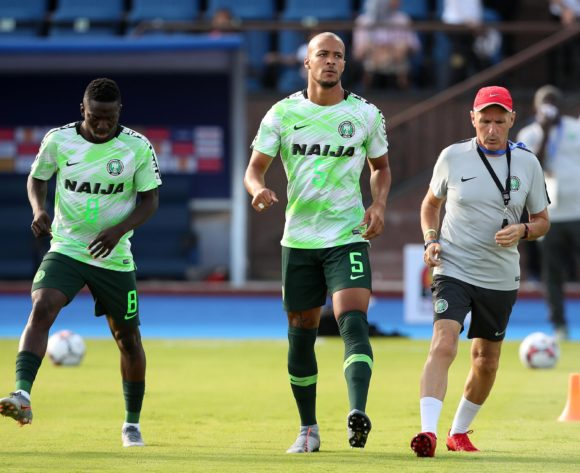 William Paul Ekong and Peter Etebo of Nigeria during the 2019 Africa Cup of Nations match between Madagascar and Nigeria at the Alexandria Stadium, Alexandria on the 30 June 2019 ©Muzi Ntombela/BackpagePix