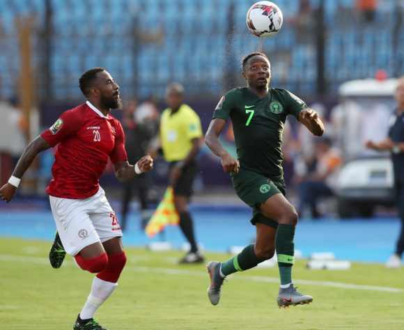 Ahmed Musa of Nigeria challenged by Romain Metanire of Madagascar during the 2019 Africa Cup of Nations match between Madagascar and Nigeria at the Alexandria Stadium, Alexandria on the 30 June 2019 ©Muzi Ntombela/BackpagePix