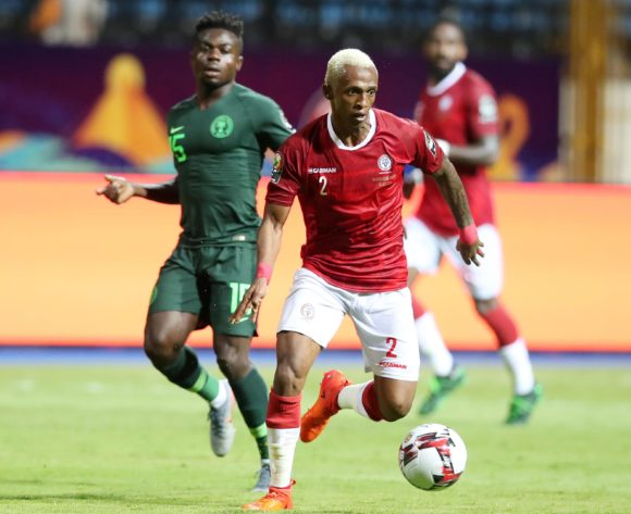 Charles Carolus Andrea of Madagascar challenged by Moses Simon of Nigeria during the 2019 Africa Cup of Nations match between Madagascar and Nigeria at the Alexandria Stadium, Alexandria on the 30 June 2019 ©Muzi Ntombela/BackpagePix