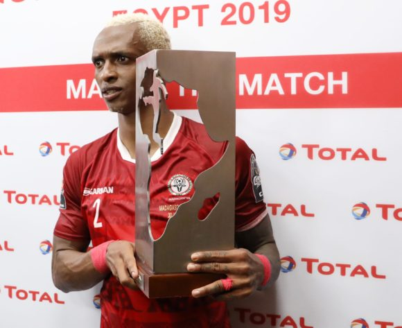 Charles Carolus Andrea of Madagascar wins man of the match award during the 2019 Africa Cup of Nations match between Madagascar and Nigeria at the Alexandria Stadium, Alexandria on the 30 June 2019 ©Muzi Ntombela/BackpagePix
