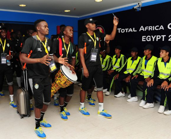 Zimbabwe team arrivals before the 2019 Africa Cup of Nations Finals game between Zimbabwe and DR Congo at 30 June Stadium in Cairo, Egypt on 30 June 2019 © Ryan Wilkisky/BackpagePix