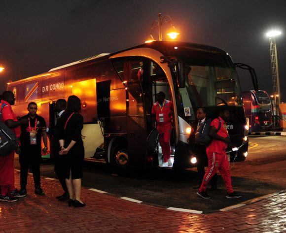DR Congo team arrivals before the 2019 Africa Cup of Nations Finals game between Zimbabwe and DR Congo at 30 June Stadium in Cairo, Egypt on 30 June 2019 © Ryan Wilkisky/BackpagePix