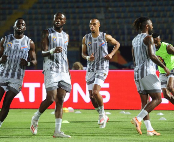 DR Congo players warm up before the 2019 Africa Cup of Nations Finals game between Zimbabwe and DR Congo at 30 June Stadium in Cairo, Egypt on 30 June 2019 © Ryan Wilkisky/BackpagePix