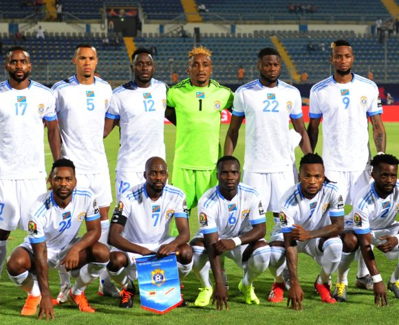 DR Congo team picture (back row l-r) Cedric Bakambu, Marcel Tisserand, Wilfred Moke, Matampi Ngumbi Ley, Chancel Mangulu Mbemba, Jonathan Bolingi (front row l-r) Jacques Maghoma, Mulumbu Yousuf, Chadrack Akolo, Muzinga Ngoda, Djos Issama during the 2019 Africa Cup of Nations Finals game between Zimbabwe and DR Congo at 30 June Stadium in Cairo, Egypt on 30 June 2019 © Ryan Wilkisky/BackpagePix