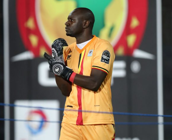 Denis Onyango of Uganda going to warm up during the 2019 Africa Cup of Nations Finals Uganda and Egypt at Cairo International Stadium, Cairo, Egypt on 30 June 2019 ©Samuel Shivambu/BackpagePix