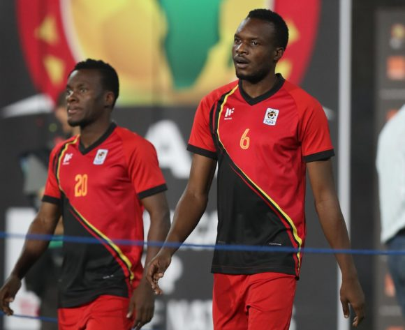 Isaac Muleme and Taddeo Lwanga of Uganda going to warm up during the 2019 Africa Cup of Nations Finals Uganda and Egypt at Cairo International Stadium, Cairo, Egypt on 30 June 2019 ©Samuel Shivambu/BackpagePix