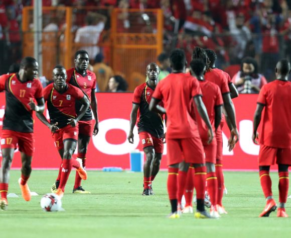 Uganda players warm up during the 2019 Africa Cup of Nations Finals Uganda and Egypt at Cairo International Stadium, Cairo, Egypt on 30 June 2019 ©Samuel Shivambu/BackpagePix
