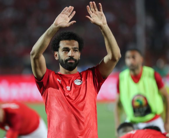 Mohamed Salah of Egypt warms up during the 2019 Africa Cup of Nations Finals football match between Egypt and Zimbabwe at the Cairo International Stadium, Cairo, Egypt on 21 June 2019 ©BackpagePix