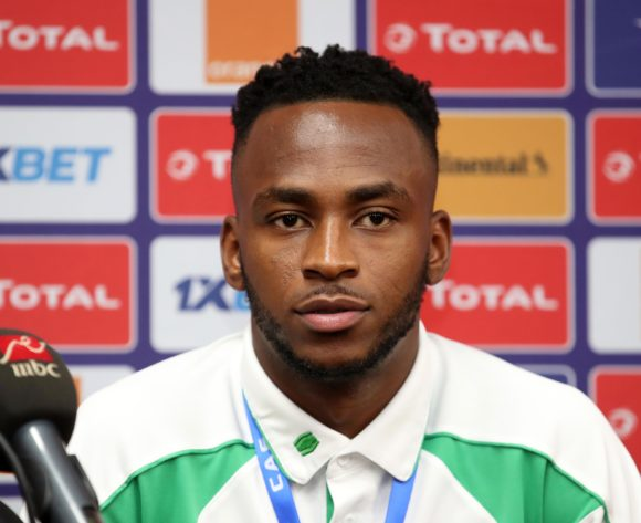 Saido Berahino of Burundi during the 2019 Africa Cup of Nations Finals Burundi Press Conference at the Alexandria Stadium, Alexandria on the 21 June 2019 ©Muzi Ntombela/BackpagePix
