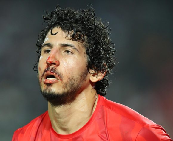 Ahmed Hegazi of Egypt bleeding blood during the 2019 Africa Cup of Nations Finals match between Egypt and Zimbabwe at Cairo International Stadium, Cairo, Egypt on 21 June 2019 ©Samuel Shivambu/BackpagePix