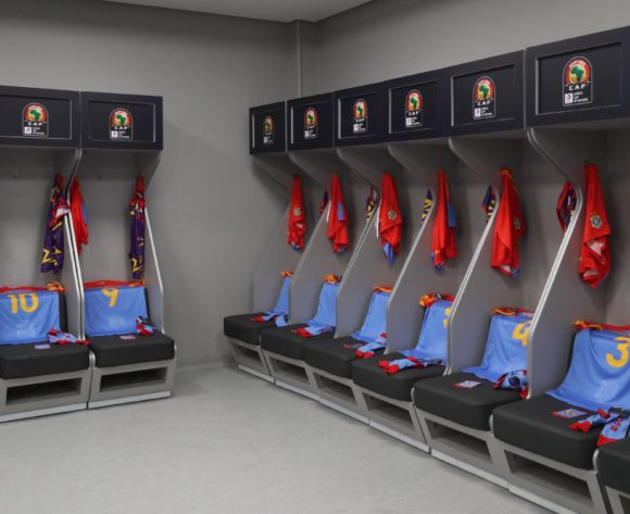 DR Congo changeroom during the 2019 Africa Cup of Nations Finals football match between DR Congo and Uganda  at the Cairo International Stadium, Cairo, Egypt on 22 June 2019 ©BackpagePix
