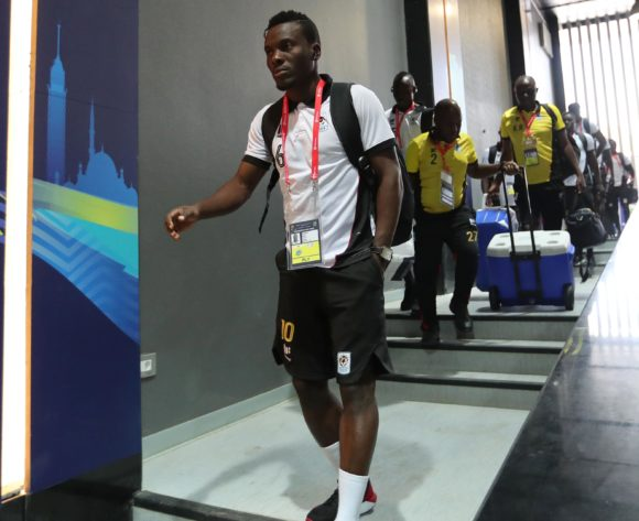 Uganda team arrival, Isaac Muleme (c) during the 2019 Africa Cup of Nations Finals football match between DR Congo and Uganda  at the Cairo International Stadium, Cairo, Egypt on 22 June 2019 ©BackpagePix