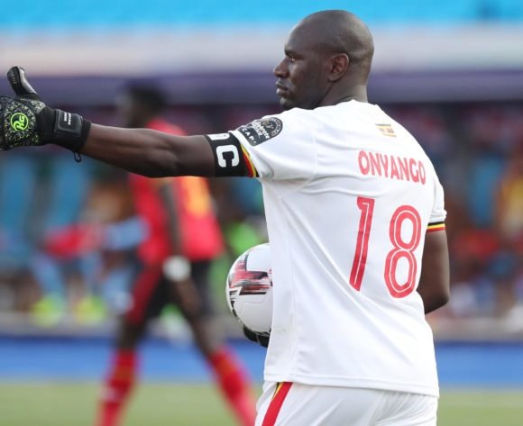 Denis Onyango of Uganda during the 2019 Africa Cup of Nations Finals football match between DR Congo and Uganda  at the Cairo International Stadium, Cairo, Egypt on 22 June 2019 ©Gavin Barker/BackpagePix