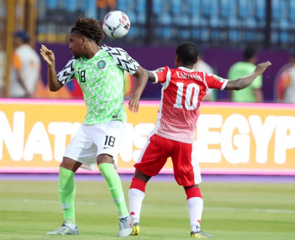 Alexander Iwobi of Nigeria challenged by Shassiri Nahimana of Burundi during the 2019 Africa Cup of Nations Finals match between Nigeria and Burundi at the Alexandria Stadium, Alexandria on the 22 June 2019 ©Muzi Ntombela/BackpagePix