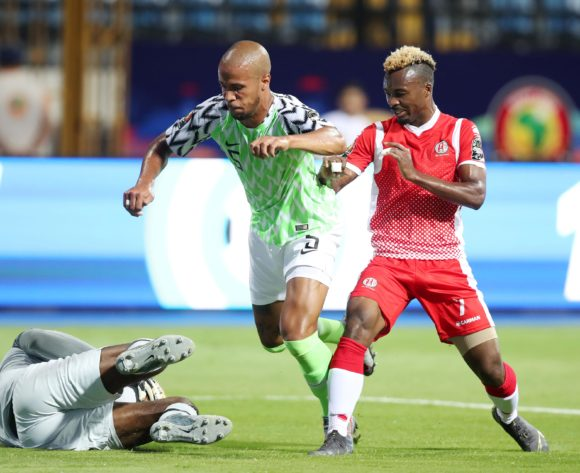Daniel Akpeyi and William Paul Ekong of Nigeria shields ball from Abdoul Fiston of Burundi during the 2019 Africa Cup of Nations Finals match between Nigeria and Burundi at the Alexandria Stadium, Alexandria on the 22 June 2019 ©Muzi Ntombela/BackpagePix