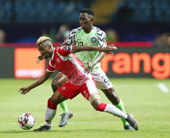 Abdoul Fiston of Burundi challenged by Josiah Kenneth Omeruo of Nigeria during the 2019 Africa Cup of Nations Finals match between Nigeria and Burundi at the Alexandria Stadium, Alexandria on the 22 June 2019 ©Muzi Ntombela/BackpagePix