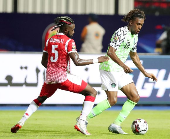 Alexander Iwobi of Nigeria challenged by Gael Bigirimana of Burundi during the 2019 Africa Cup of Nations Finals match between Nigeria and Burundi at the Alexandria Stadium, Alexandria on the 22 June 2019 ©Muzi Ntombela/BackpagePix