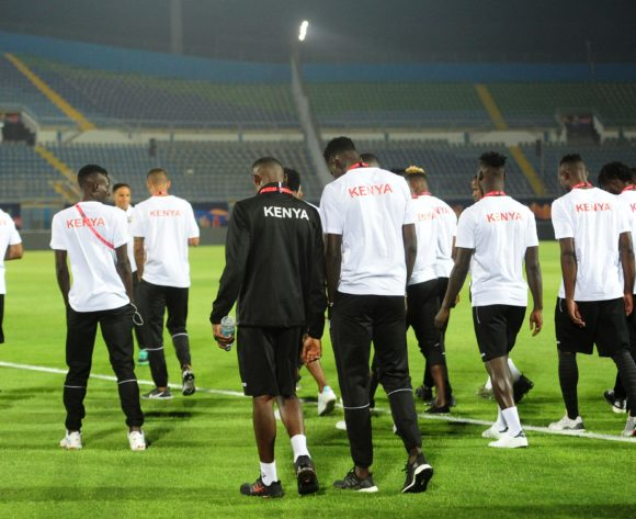 Kenya players during the 2019 Africa Cup of Nations Finals Kenya training session at 30 June Stadium in Cairo, Egypt on 22 June 2019 © Ryan Wilkisky/BackpagePix
